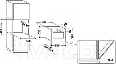 Микроволновая печь Whirlpool AMW 730/IX - информация для встраивания