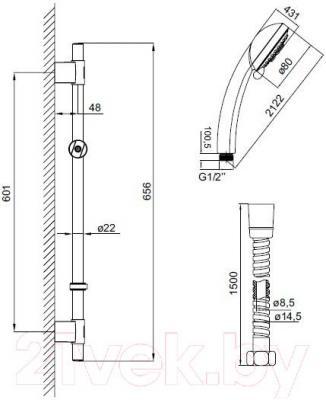 Душевой гарнитур Iddis TSH1501