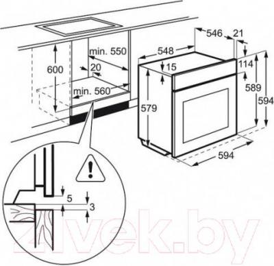 Электрический духовой шкаф Electrolux EOA95851AV
