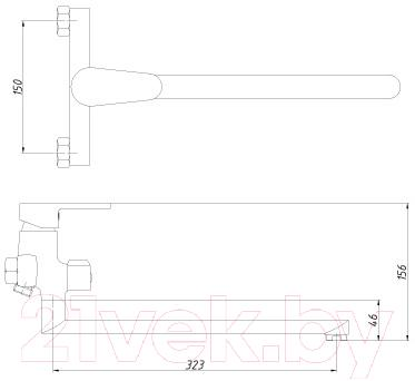 Смеситель Rossinka Silvermix I35-32