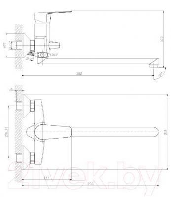 Смеситель Rossinka Silvermix S35-33