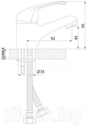 Смеситель Rossinka Silvermix А35-11