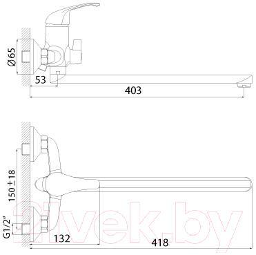 Смеситель Rossinka Silvermix A35-32