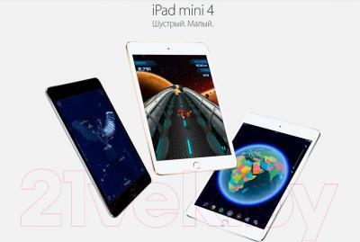 Планшет Apple iPad mini 4 Cell MK702RK/A (серебристый)