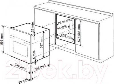 Электрический духовой шкаф Indesit FMR 54 K.A (AN) - схема встраивания