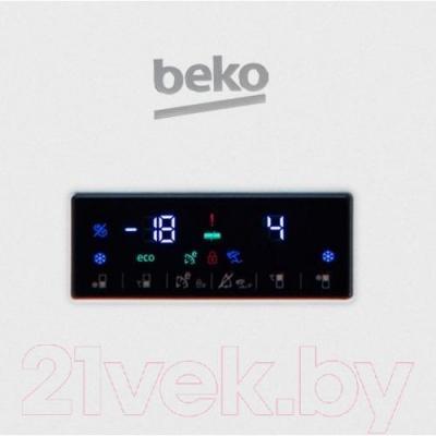 Холодильник с морозильником Beko RCNK355E21W - панель управления