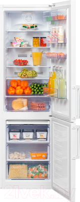 Холодильник с морозильником Beko RCNK355E21W