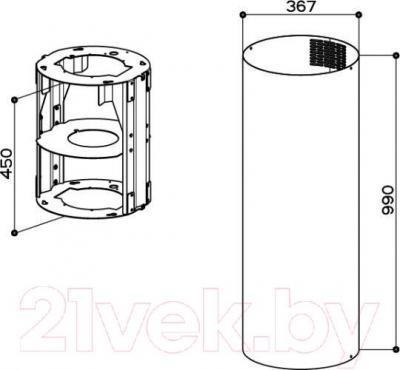 Короб для вытяжки Faber D370 F990 10L (112.0157.267)