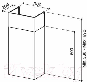 Короб для вытяжки Faber Kit Camini A500+A500 Inox (112.0250.289)