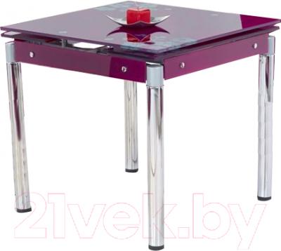 Обеденный стол Halmar Kent (фиолетовый/хром)