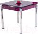Обеденный стол Halmar Kent (фиолетовый/хром) -