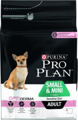 Корм для собак Pro Plan Adult OptiDerma Small & Mini с лососем и рисом (3кг)