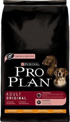 Корм для собак Pro Plan Adult Dog Original с курицей и рисом (18кг)