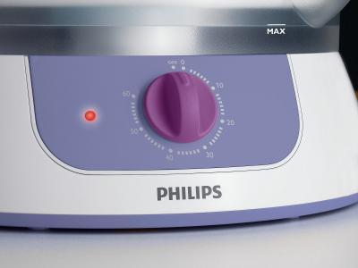 Пароварка Philips HD9120/00 - панель управления