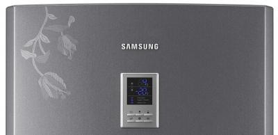 Холодильник с морозильником Samsung RL-44 ECPB - управление на двери