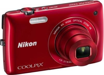 Компактный фотоаппарат Nikon Coolpix S3300 Kit (Red) - общий вид