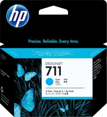 Комплект картриджей HP 711 (CZ134A) - общий вид