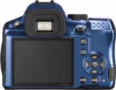 Зеркальный фотоаппарат Pentax K-30 Body (Blue) - вид сзади