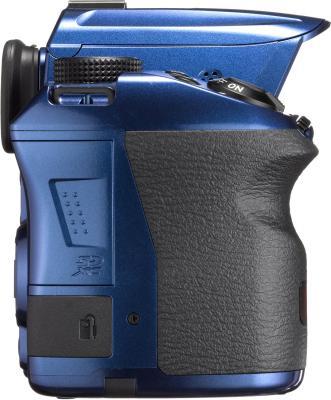 Зеркальный фотоаппарат Pentax K-30 Body (Blue) - вид сбоку