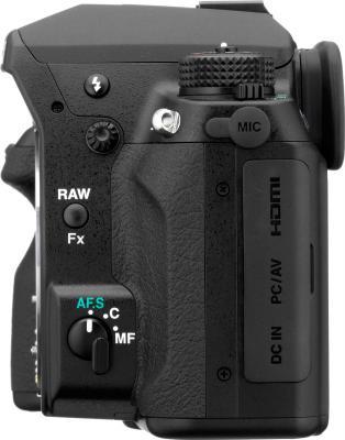 Зеркальный фотоаппарат Pentax K-5 Kit DA 18-55mm - вид сбоку