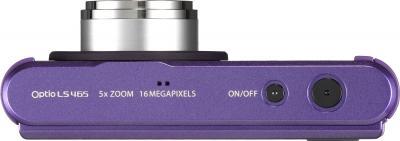 Компактный фотоаппарат Pentax Optio LS465 (Amethyst-Purple) - вид сверху