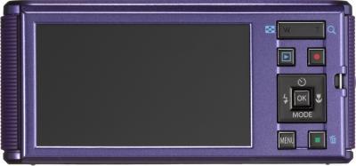 Компактный фотоаппарат Pentax Optio LS465 (Amethyst-Purple) - вид сзади