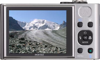 Компактный фотоаппарат Pentax Optio RX18 (Dark Silver) - общий вид