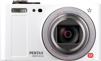 Компактный фотоаппарат Pentax Optio RZ18 (White) - вид спереди