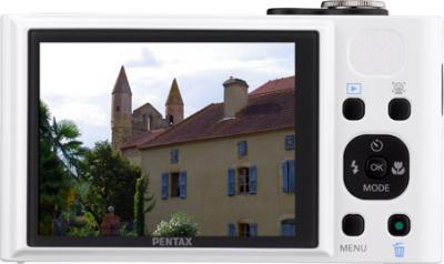 Компактный фотоаппарат Pentax Optio RZ18 (White) - вид сзади