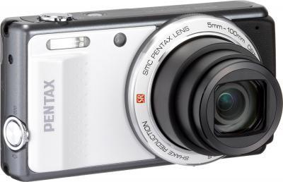 Компактный фотоаппарат Pentax Optio VS20 (White) - общий вид
