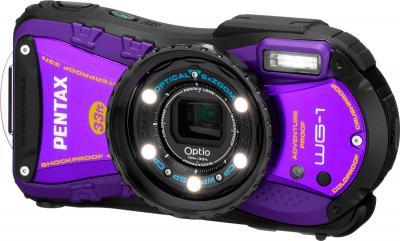 Компактный фотоаппарат Pentax Optio WG-1 (Purple) - вид спереди
