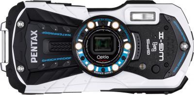 Компактный фотоаппарат Pentax Optio WG-2 GPS (White-Black) - вид спереди
