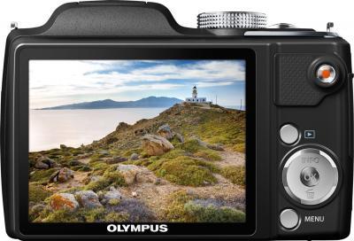 Компактный фотоаппарат Olympus SP-720UZ (Black) - вид сзади