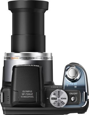 Компактный фотоаппарат Olympus SP-720UZ (Black) - вид сверху