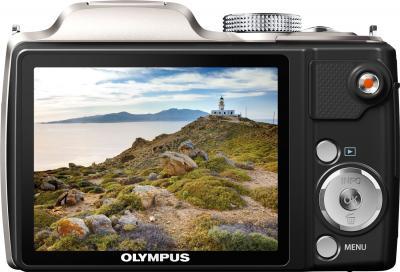 Компактный фотоаппарат Olympus SP-720UZ (Silver) - вид сзади