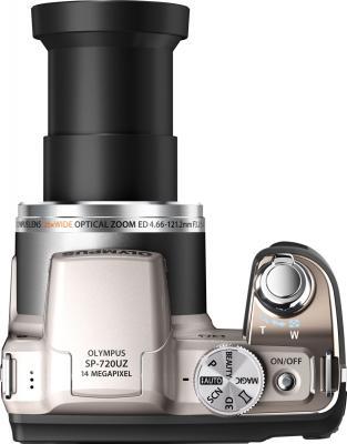 Компактный фотоаппарат Olympus SP-720UZ (Silver) - вид сверху
