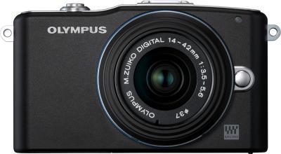 Беззеркальный фотоаппарат Olympus E-PM1 Kit 14-42mm (Black) - общий вид