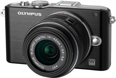 Беззеркальный фотоаппарат Olympus E-PL3 Kit 14-42mm (Black) - общий вид