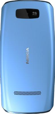Мобильный телефон Nokia Asha 306 Middle Blue - задняя панель