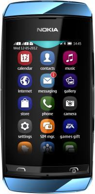 Мобильный телефон Nokia Asha 306 Middle Blue - общий вид