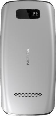 Мобильный телефон Nokia Asha 306 Silver-White - задняя панель