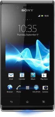 Смартфон Sony Xperia J (ST26i) (Black) - общий вид