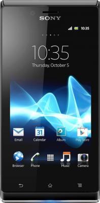 Смартфон Sony Xperia J (ST26i) Gold - общий вид