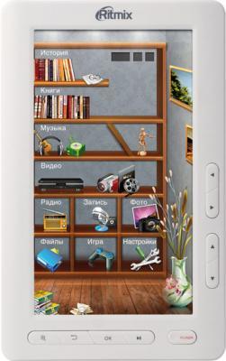 Электронная книга Ritmix RBK-420 White (microSD 8Gb) - общий вид