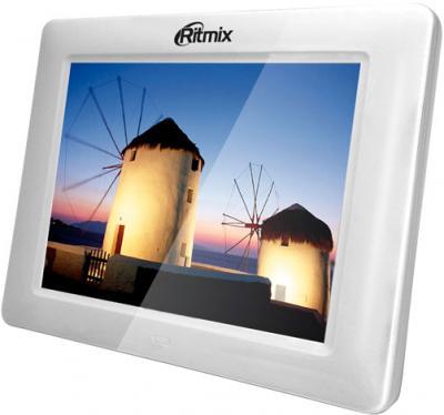 Цифровая фоторамка Ritmix RDF-801W - общий вид