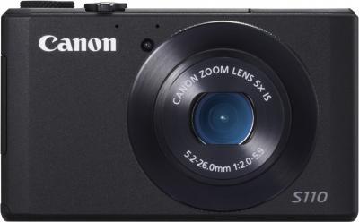 Компактный фотоаппарат Canon PowerShot S110 Black - вид спереди