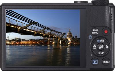 Компактный фотоаппарат Canon PowerShot S110 Black - вид сзади
