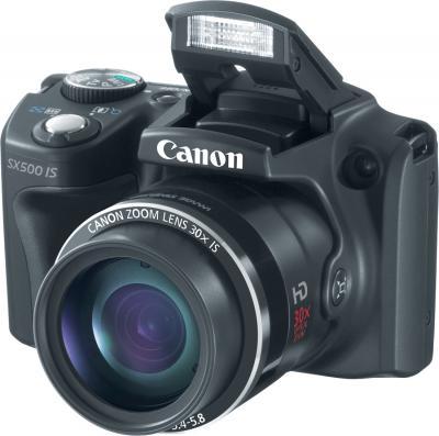 Компактный фотоаппарат Canon PowerShot SX500 IS - общий вид
