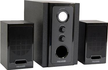 Мультимедиа акустика Microlab M 528 (серебристый/дерево) - общий вид