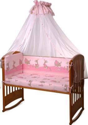 Комплект в кроватку Perina Ева Е4-02.3 (Ослики розовый) - общий вид